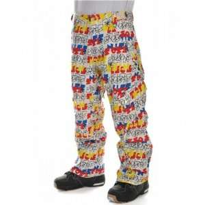 Sessions Gridlock Snowboard Pants Fresh Prince Mens Sz XS