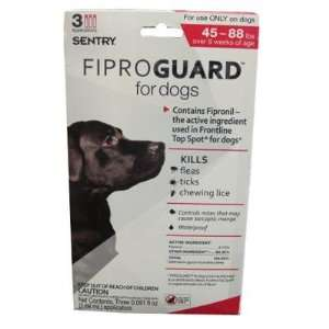 FiproGuard Topical Flea and Tick Treatment for Dogs 45