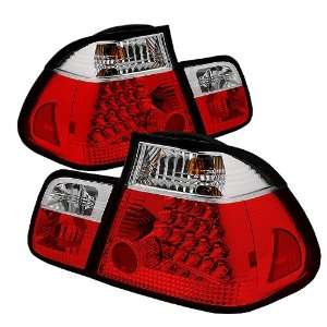 Spyder Auto ALT YD BE4602 4D LED RC BMW E46 3 Series 4 Door Red/Clear