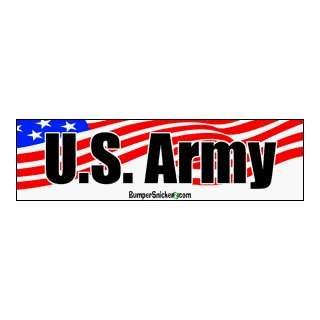 U.S. Army   patriotic bumper stickers (Medium 10x2.8 in