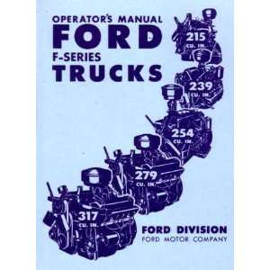 1952 FORD F SERIES TRUCK Owners Manual User Guide