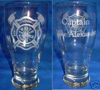Personalized Engraved Fireman, Firefighter Pilsner