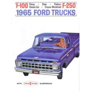 1965 FORD F100 F150 F250 TRUCK Sales Brochure Book Automotive