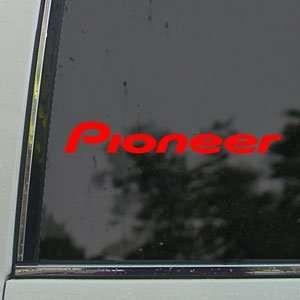 Pioneer Audio Red Decal Car Truck Bumper Window Red
