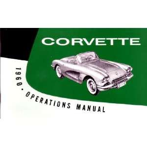 1960 CHEVROLET CORVETTE Owners Manual User Guide