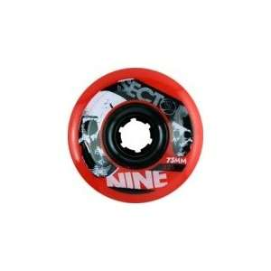Sector 9 Race Formula Red Longboard Wheels   73mm 82a (Set