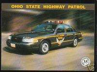 OHIO STATE POLICE HIGHWAY PATROL TROOPERS Ford Car Card