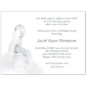 Heavenly Baby Birthday Invitations   Set of 20 Baby