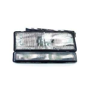 1991 93 BUICK PARK AVENUE HEADLIGHT WITH BLACK TRIM, PASSENGER SIDE