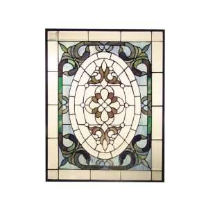 Dale Tiffany SC0144 Samantha Art Glass Window Panel , 25