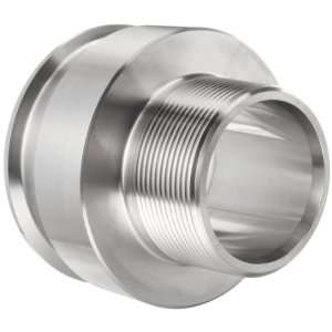 Parker Sanitary Tube Fitting, 316L Stainless Steel, Adapter, 1 Tube