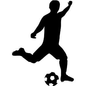 man kicking soccer ball Decal Sticker