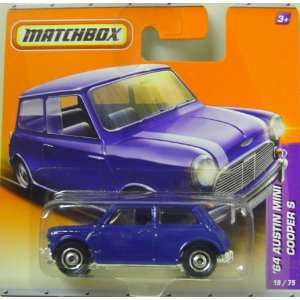 Matchbox Cars   1964 Austin Mini Cooper S In Blue Toys