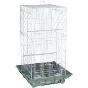 Clean Life Tall Bird Cage   Green & White