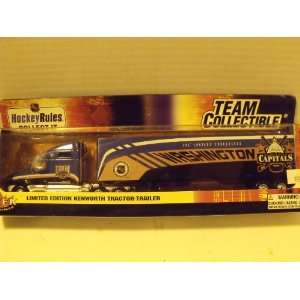 NHL 180 Scale Washington Capitals Kenworth Tractor Trailer Toys