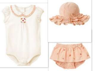 Gymboree Safari Poppy Baby Girl summer outfits Hat 3 6