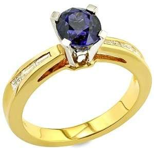 sapphire ,white diamond and yellow gold ring. Vanna Weinberg Jewelry