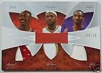 2006 07 Exquisite MICHAEL JORDAN LeBron James KOBE BRYANT Trios Triple