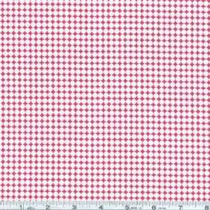 Urban Farm Dot Grid Pink/Red Fabric By The Yard Arts, Crafts & Sewing