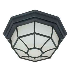 60/536 1 Light Textured Black Outdoor Ceiling Light