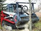 farm tractors, skidsteer attachments items in farm equipment store on