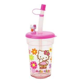 Sanrio Hello Kitty Straw Cup with Mascot  Flower