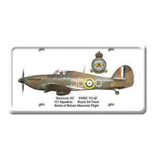 Hurrican IIC Air Force Plane Metal License Plate Sign