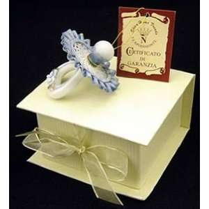 Capodimonte blue pacifier in gift box Baby