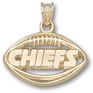Kansas City Chiefs NFL Pierced Football Pendant (14kt