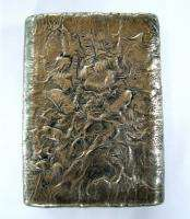 IMPERIAL RUSSIAN SILVER GOLD DECO CIGARETTE CASE RARE