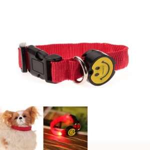 LED Flashing Safety Pet Dog Collar Red Light   Size M