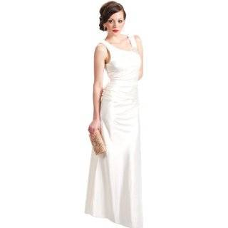 One Shoulder Satin Goddess Formal Gown Prom Dress Clothing