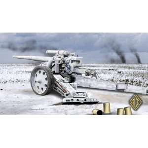 Ace 1/72 Heavy 10cm Gun 18 (Bleiglanz) WWII German Gun Kit