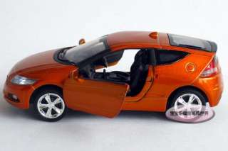 New 132 Honda CR Z Alloy Diecast Model Car With Sound&Light Orange