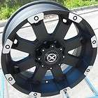 18 BLACK ATX WHEELS RIMS DODGE RAM CHEVY SILVERADO GMC SIERRA 2500