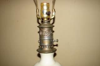 Vintage Leviton USA Brass Porcelain Milk Glass Lamp