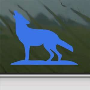 Howling Lone Wolf Blue Decal Car Truck Window Blue Sticker