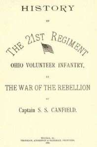 Civil War History of 21st Ohio Volunteer Infantry OH