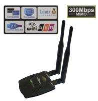 High Power 500mW Wireless N USB Wifi Lan Adapter 300Mbps 2x Antenna