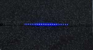 Blue 48 LED Bulb Knight Rider Strip Car Light+Control