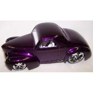 Scale Diecast Dub City 1941 Willys Coupe in Color Purple Toys & Games