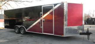 NEW 8.5 X 24 ENCLOSED MOTORCYCLE TRAILER V NOSE TWO TON