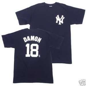 JOHNNY DAMON New York Yankees (100% Cotton) YOUTH T SHIRT with Name