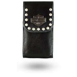 Harley Davidson Black Leather Pouch Electronics
