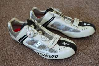 Specialized S Works BG road cycling shoes carbon BOA size 45 12 white