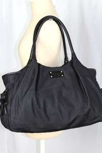 KATE SPADE Gramercy Park Core Black Nylon Stevie BABY Diaper BAG Tote