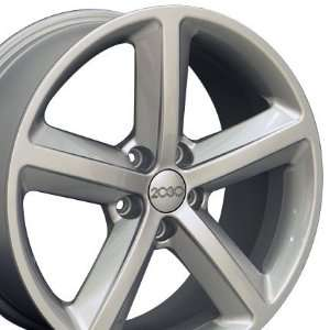 A5 Style Wheel Fits Audi   Silver 18x8 Automotive