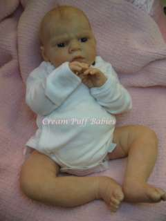 NEWBORN BABY GIRL DOLL HANNAH BY REVA SCHICK    CREAM PUFF BABIES