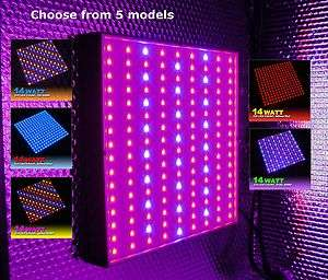 14 WATT   225 LED   HYDROPONIC PLANT GROW LIGHT PANEL   TRI, QUAD, BI
