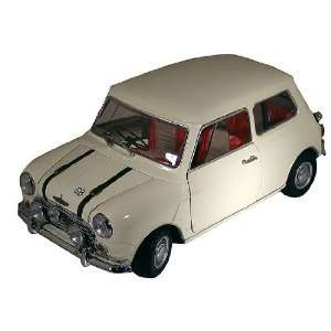 Austin Mini Cooper in White with Red and Grey Interior Toys & Games